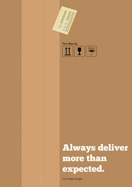 Wall Art - Digital Art - Always Deliver More  Than Expected Inspirational Quotes Poster by Lab No 4 - The Quotography Department