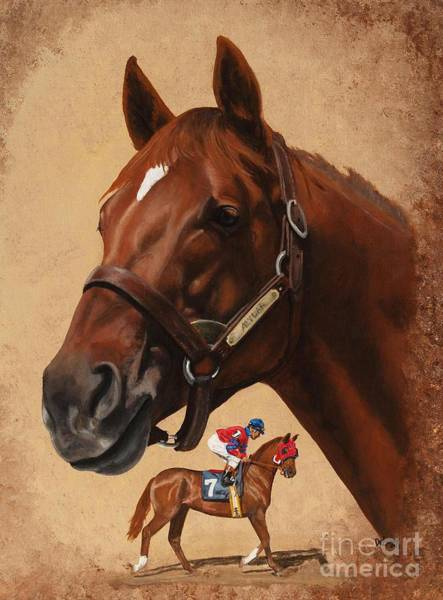Wall Art - Painting - Alydar by Pat DeLong