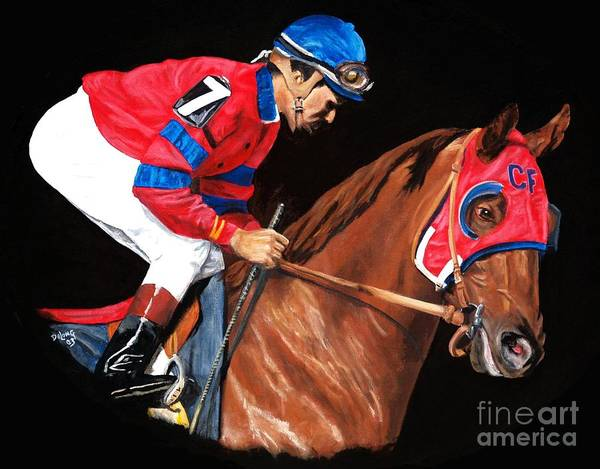 Wall Art - Painting - Alydar Post Parade by Pat DeLong