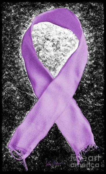 Weary Photograph - Alzheimer's Awareness Ribbon by Luke Moore