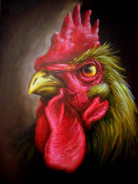 Lagos Painting - Am Not A Chicken Am A Rooster by Bakare Shariff