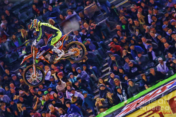 Photograph - Ama 250 Supercross Jessy Nelson  by Blake Richards