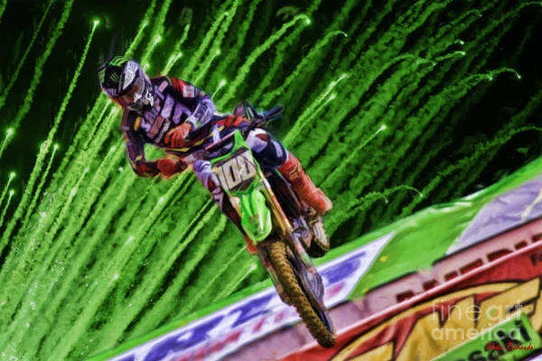 Photograph - Ama 250sx Supercross Joshua Hanson by Blake Richards