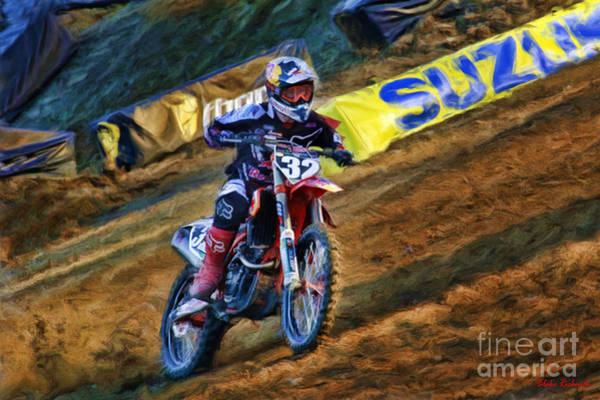 Photograph - Ama 250sx Supercross Justin Hill by Blake Richards