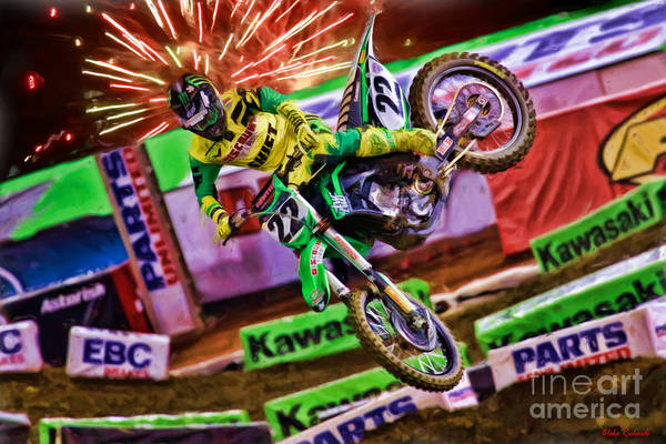 Ama 450sx Supercross Chad Reed Art Print