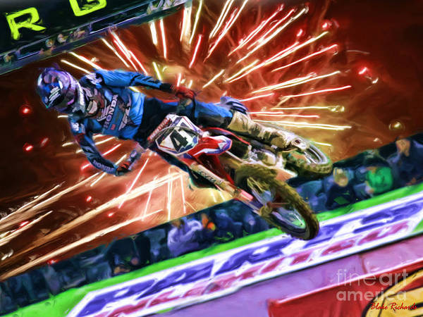 Photograph - Ama 450sx Supercross Chad Reed Tery Canard by Blake Richards