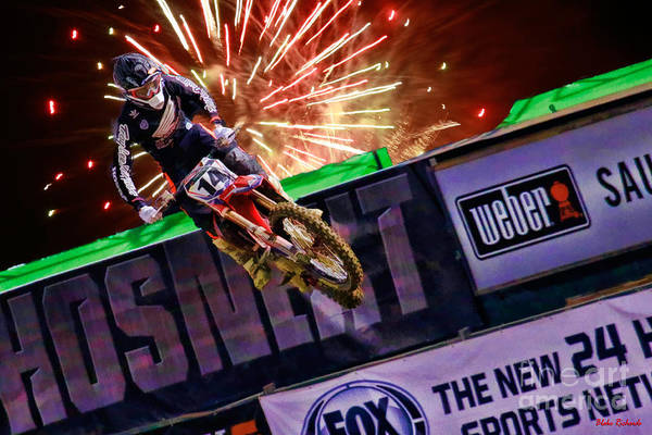 Photograph - Ama 450sx Supercross Cole Seely by Blake Richards