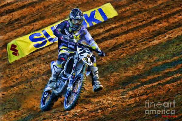 Photograph - Ama 450sx Supercross Jason Anderson by Blake Richards