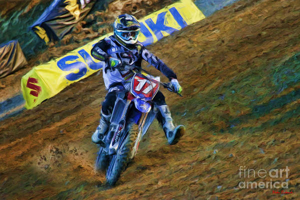 Photograph - Ama Supercross 250 Cooper Webb by Blake Richards