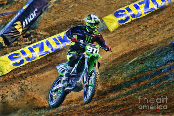 Photograph - Ama Supercross Tyler Bowers by Blake Richards