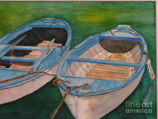 Painting - Amalfi Boats by Peggy Dickerson