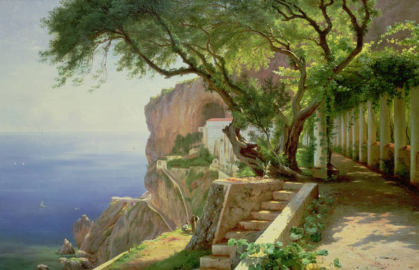 Lane Painting - Amalfi by Carl Frederick Aagaard