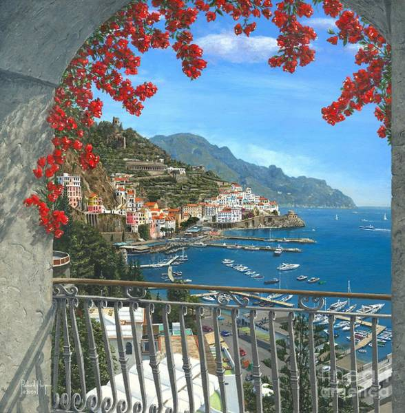 Old Town Digital Art - Amalfi by MGL Meiklejohn Graphics Licensing