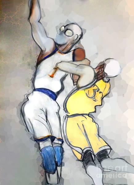 Mavericks Mixed Media - Amar'e Stoudemire - Basketball by Carolyn Weltman