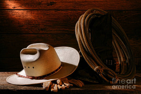 Cowboy Hat Photograph - Amarillo By Morning by Olivier Le Queinec