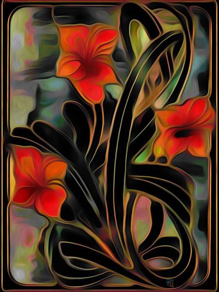 Amaryllis Painting - Amaryllis by  Fli Art