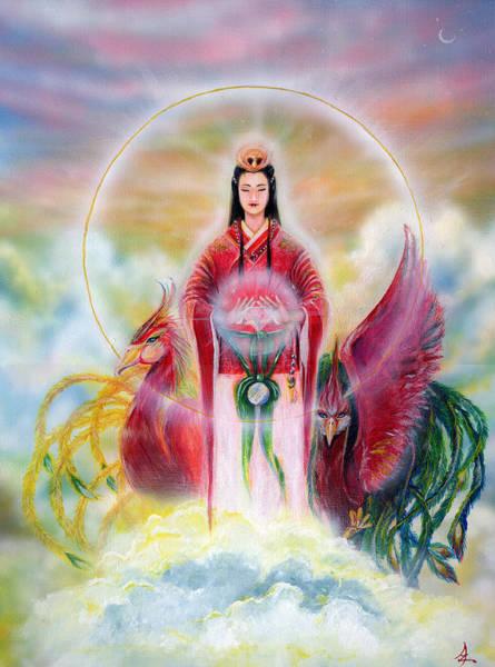 Wall Art - Painting - Amaterasu-goddess Of The Sun by Acchi Aya Sanchez