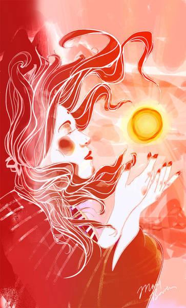 Wall Art - Digital Art - Amaterasu The Sun Goddess by Mary Bowen