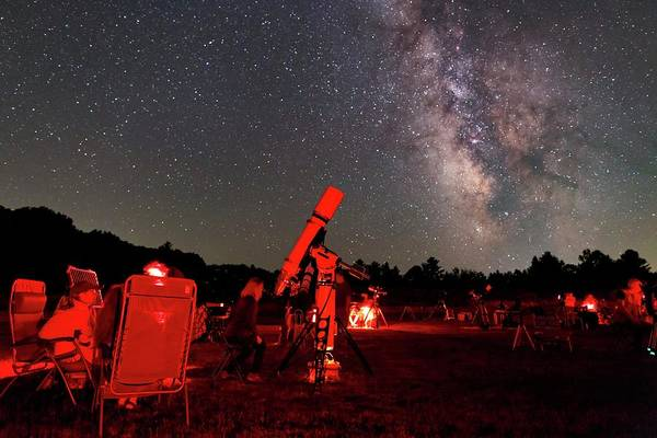 Amateur Astronomy And The Milky Way Art Print