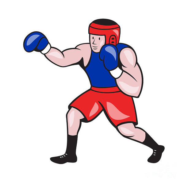 Amateur Boxer Boxing Cartoon Art Print