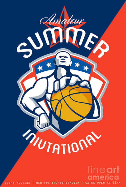 Amateur Digital Art - Amateur Summer Invitational Basketball Poster by Aloysius Patrimonio