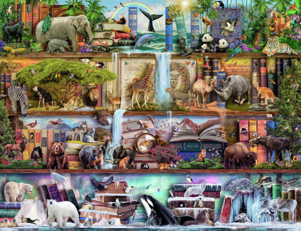 Wall Art - Painting - Amaxing Animal Kingdom by MGL Meiklejohn Graphics Licensing