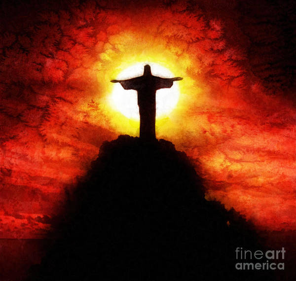 Redeemer Wall Art - Painting - Amazing Grace by Mo T