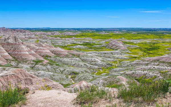 Photograph - Amazing Landscape At Badlands by John M Bailey