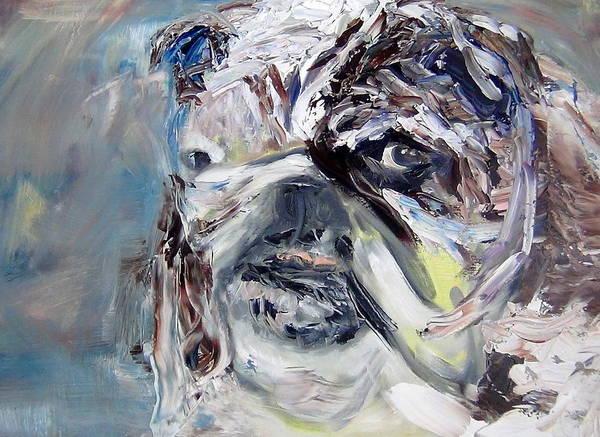 English Bulldog Painting - Amazing Spike by Mirel Van de Riet