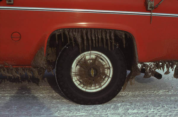 Photograph - M-09201-amazing Truck Icicles by Ed  Cooper Photography