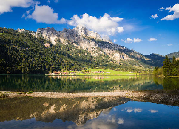 Photograph - Amazing Water Reflection Of Beautiful Mountain Landscape In Austria by Matthias Hauser