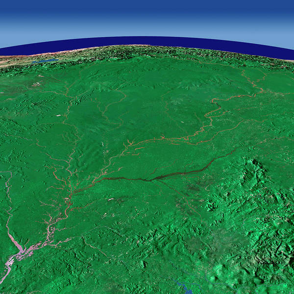 Colombian Wall Art - Photograph - Amazon Rivers by Worldsat International/science Photo Library