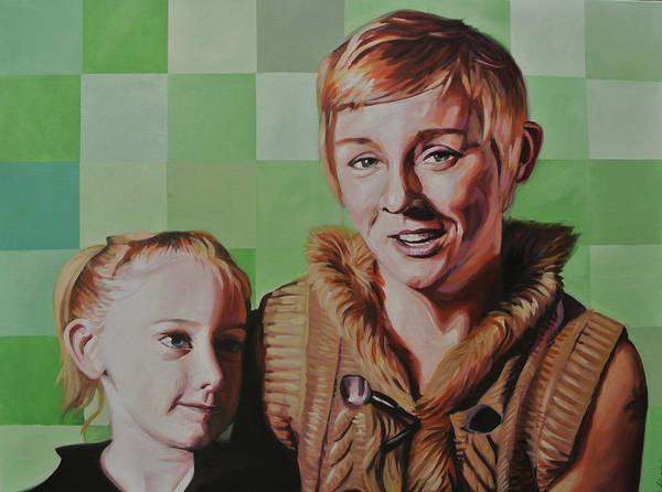 Amber Drawing - Amber And Phoebe by Steve Hunter