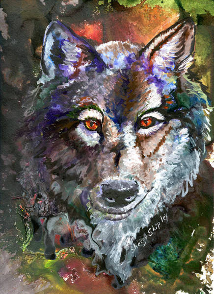 Painting - Amber Eyes by Sherry Shipley