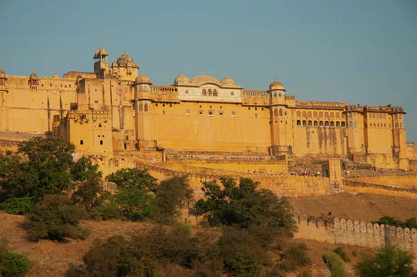 Fortification Photograph - Amber Fort, Jaipur, Rajasthan, India by Inger Hogstrom
