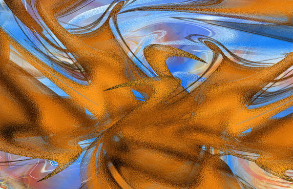 Digital Art - Amber Matrix by Roy Erickson