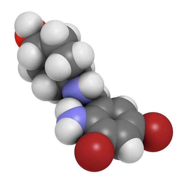 Pharma Wall Art - Photograph - Ambroxol Secretolytic Drug Molecule by Molekuul