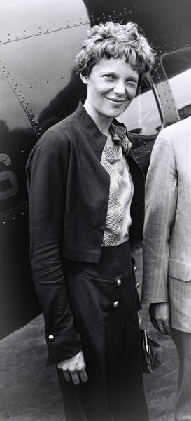 Heroine Photograph - Amelia Earhart - 1932 by Daniel Hagerman