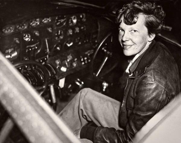 Heroine Photograph - Amelia Earhart - Aviation Pioneer - 1937 by Daniel Hagerman