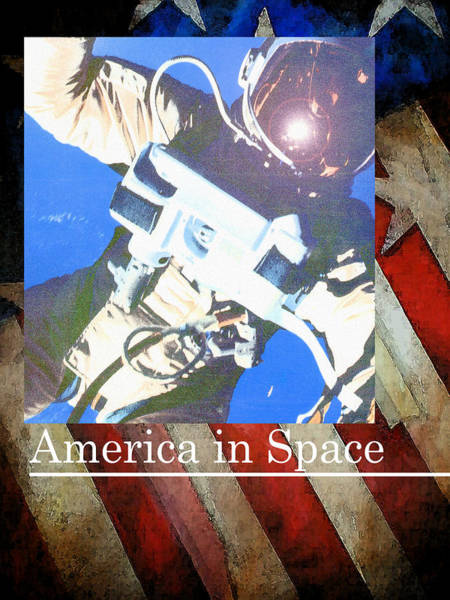 Painting - America In Space by Sean Parnell