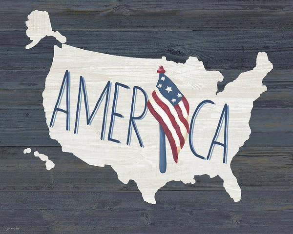 Us Wall Art - Painting - America by Jo Moulton