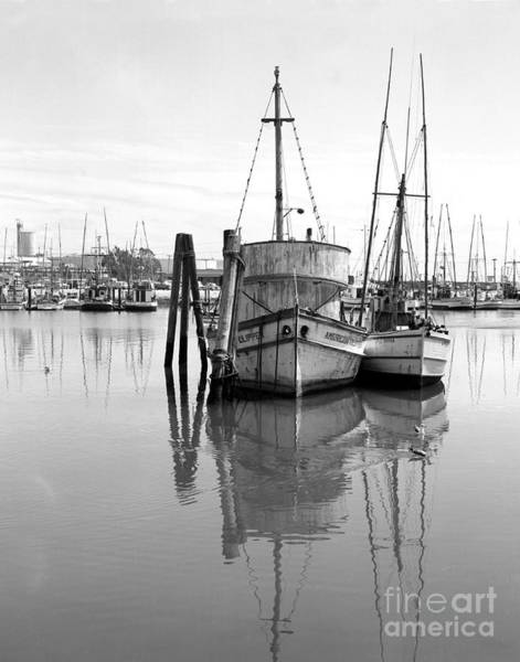 Photograph - Americal Clipper Fishing Boats  Moss Landing California 1972 by California Views Archives Mr Pat Hathaway Archives