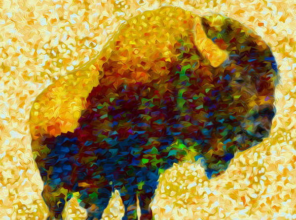 Food Groups Painting - American Bison by Jack Zulli