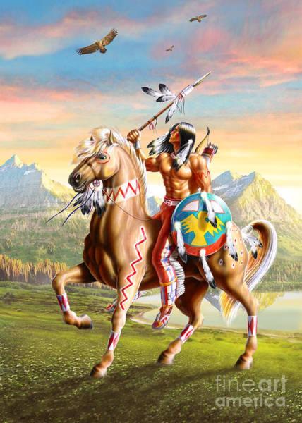 Airbrushed Wall Art - Digital Art - American Brave by MGL Meiklejohn Graphics Licensing