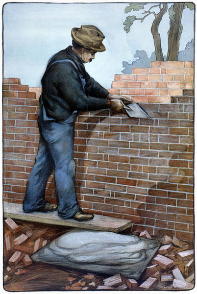 Painting - American Brick Layer, 1904 by Granger