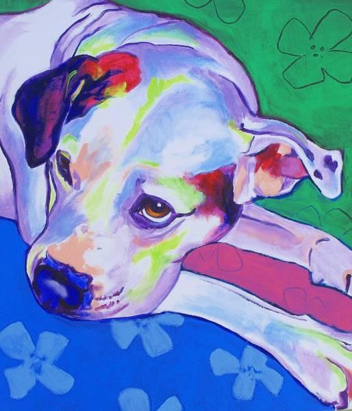 Wall Art - Painting - American Bulldog - Raja by Alicia VanNoy Call