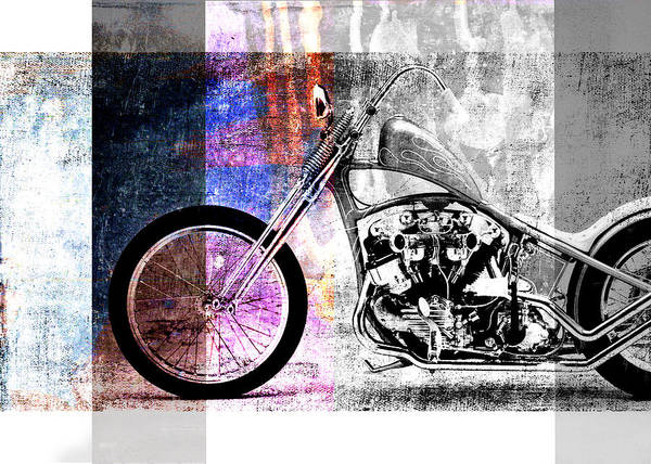 Chopper Wall Art - Digital Art - American Chopper Bike by David Ridley