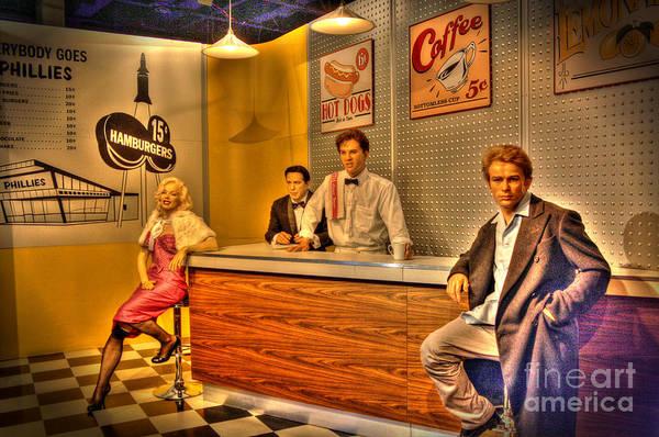 Bogart Digital Art - American Cinema Icons - 5 And Diner by Dan Stone