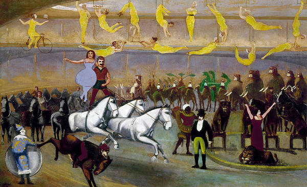 Trapeze Painting - American Circus, 1874 by Granger