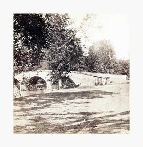 Burnside Bridge Photograph - American Civil War Burnside Bridge, Antietam by American School